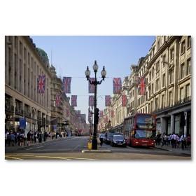 Αφίσα (σημαία, δρόμος, λεωφορείο, street_London)